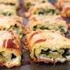 Spinach and Arugula Lasagna Roll-Ups