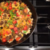 Ground Beef Skillet Nachos