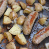 One-Pan Roasted Sausage, Potatoes, and Onions