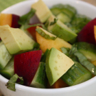 Avocado Peach Salad [+ Snack Girl Review]