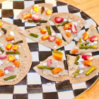 Roasted Vegetable and Hummus Flatbread