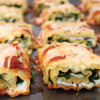 Spinach and Arugula Lasagna Roll-Ups
