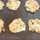 Mashed Potato Cakes with Spinach and Cheese