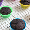 Healthy Chocolate Muffins with Greek Yogurt
