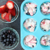Frozen Yogurt Fruit Cups