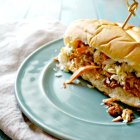 Slow Cooker Mexican BBQ Chicken Sandwiches