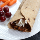 BBQ Chicken Wrap with Crunchy Coleslaw Topping