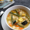 Leftover Roasted Vegetable Chicken Soup