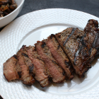 [The BEST] Grilled Strip Steaks with Mushrooms