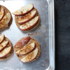 Open Face Apple and Peanut Butter Sandwiches