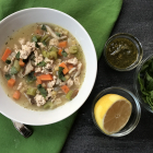 Pesto Turkey Noodle Soup