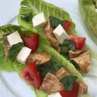 Caprese Chicken Lettuce Wraps
