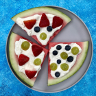 Watermelon Pizza with Fresh Fruit Topping