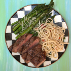 Grilled Strip Steaks for Meal Prep