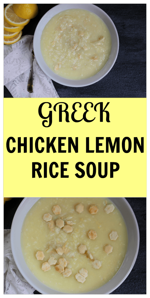 Chicken Lemon Rice Soup is a classic Greek, lemony soup made with ...
