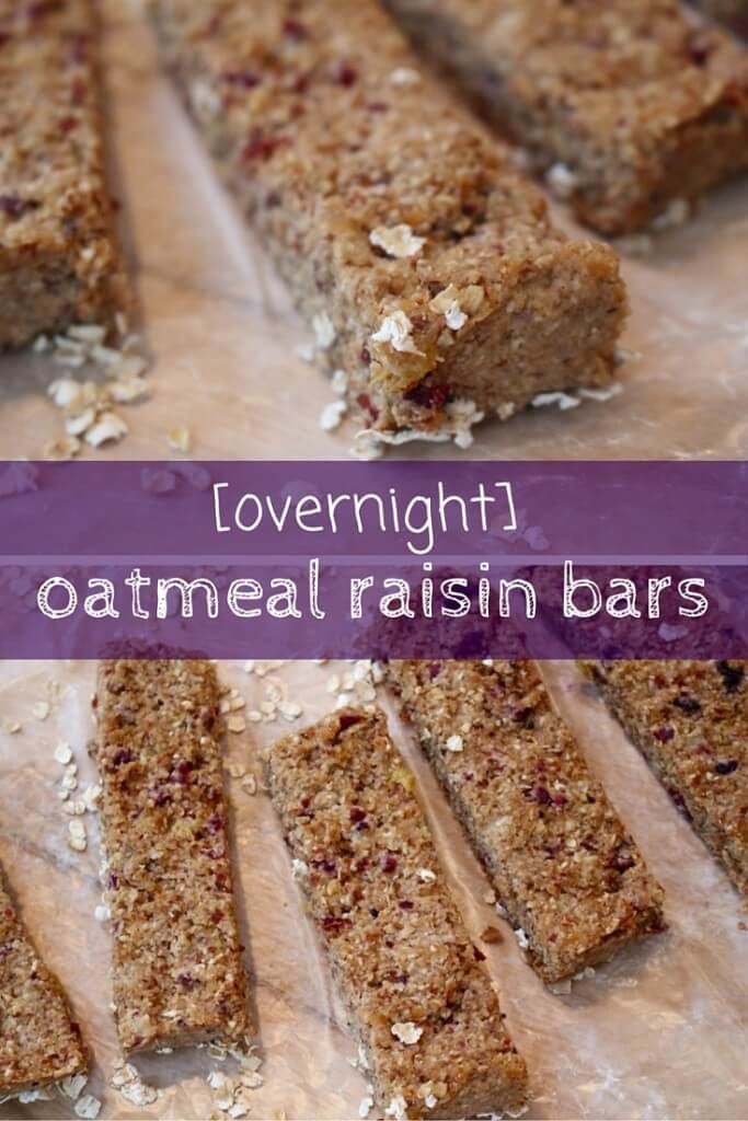 ... oats in a bar with overnight oatmeal raisin bars #breakfast… Click